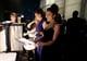 Salma Hayek backstage at the 2013 Oscars.