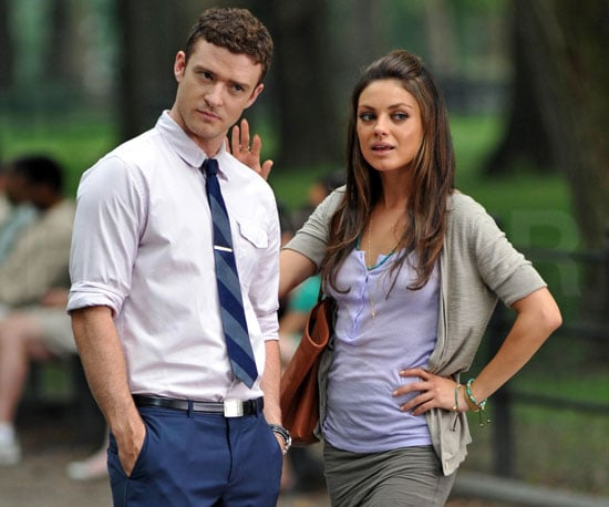 Slide Picture of Justin Timberlake and Mila Kunis Filming Friends With Benefits in New York 2010-07-23 14:30:00