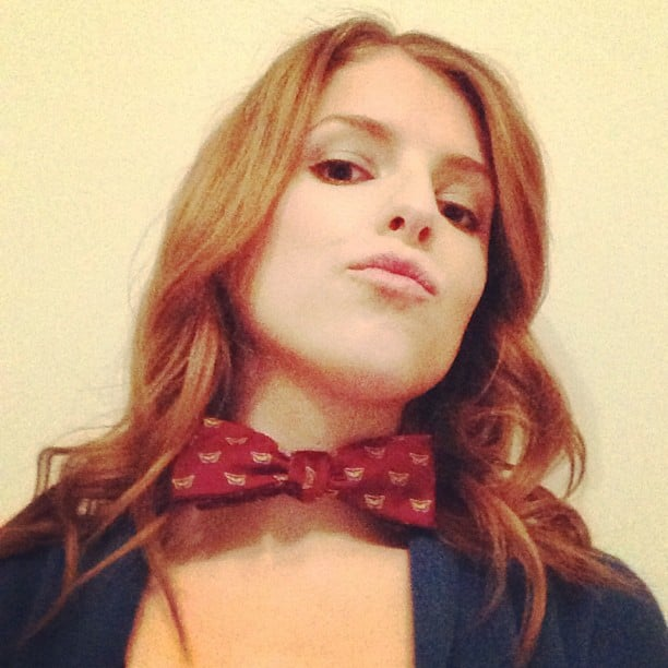 Anna Kendrick sported a bow tie. Source: Instagram user annakendrick47