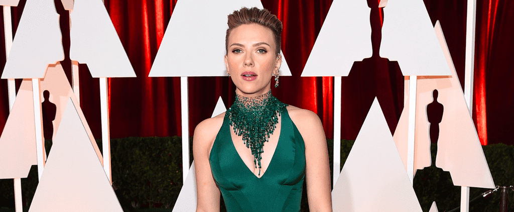 Scarlett Johansson Gives Us the Scoop on Her New Girl Band on the Oscars Red Carpet
