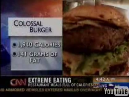 Chain Restaurants:  Nutritional Info on Menus