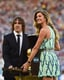 Gisele Bündchen presented the World Cup trophy ahead of the game.