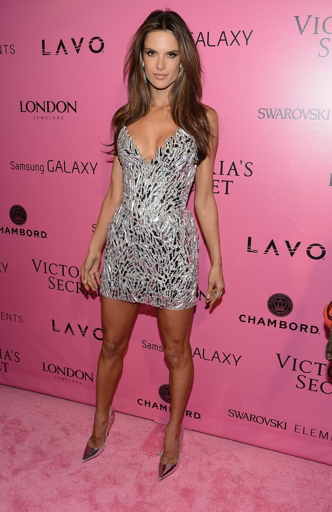 Alessandra Ambrosio stepped out on the pink carpet in NYC.