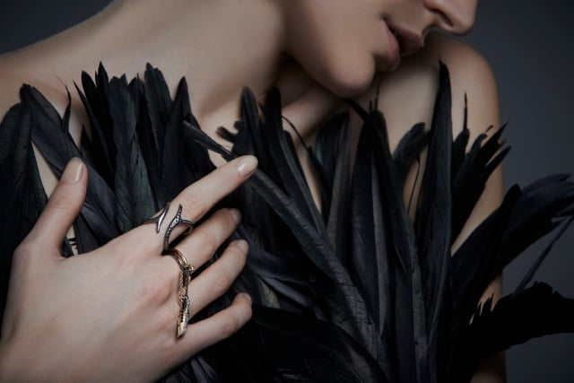 Raven Branch Ring and Raven Bird Cage Ring ($95 each)
