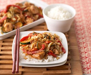 Quick and Easy Ginger Chicken Veggie Stir-Fry Recipe