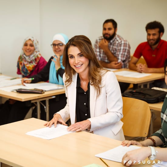 Queen Rania Wearing a Suit May 2016