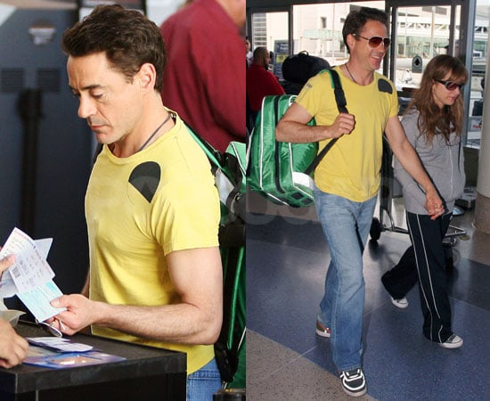 Photos of Robert Downey Jr at LAX
