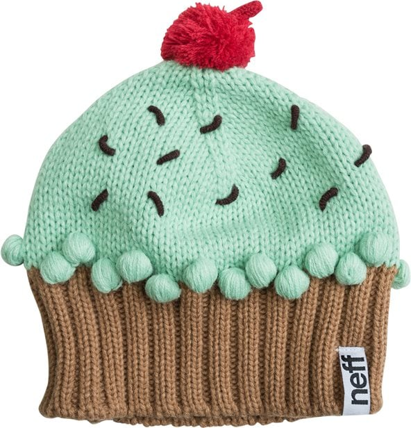 As the temperature dips, you'll want to keep warm in this knit cupcake beanie ($28).