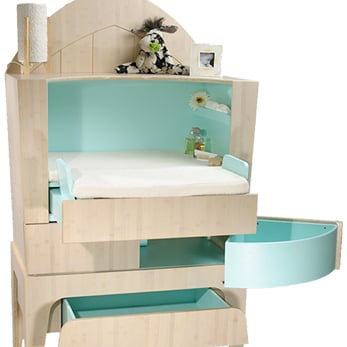 Changing Table That Converts to a Desk