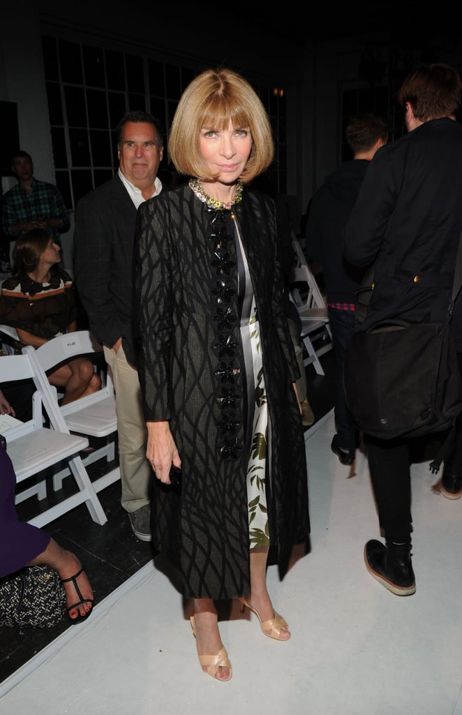 Anna Wintour was front row (naturally) for the Altuzarra show on Saturday.