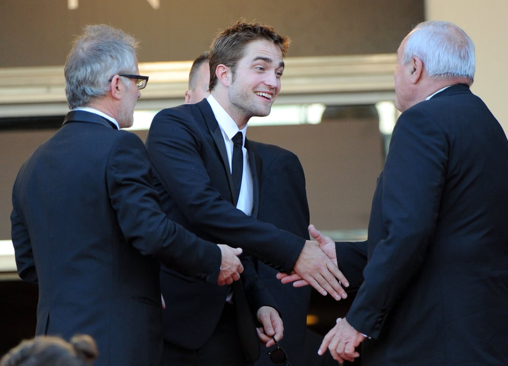 Robert Pattinson was greeted at the On the Road premiere at the Cannes Film Festival.