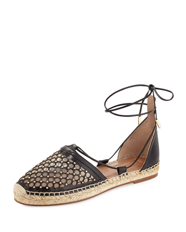 Aquazzura Lattice Espadrille Sandal