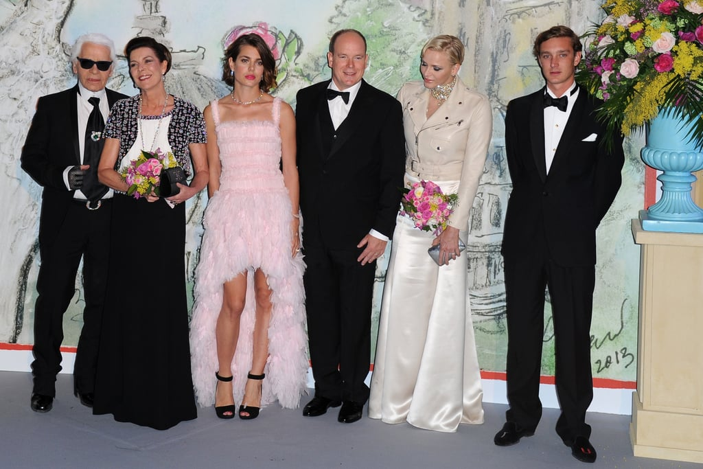 Charlotte and her family posed with Karl Lagerfeld at the 2013 Rose Ball.