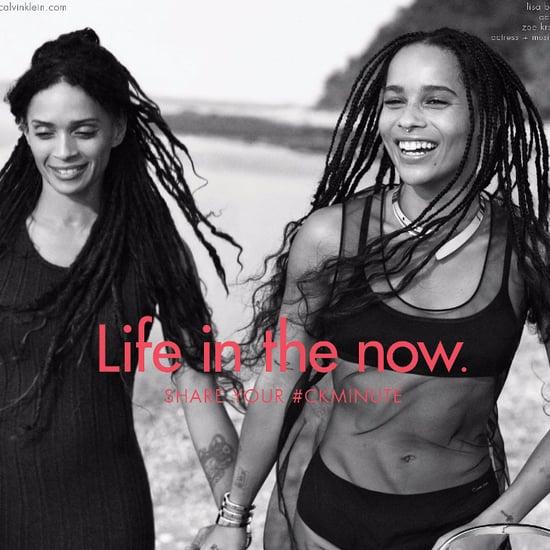 Zoe Kravitz and Lisa Bonet's Calvin Klein Campaign