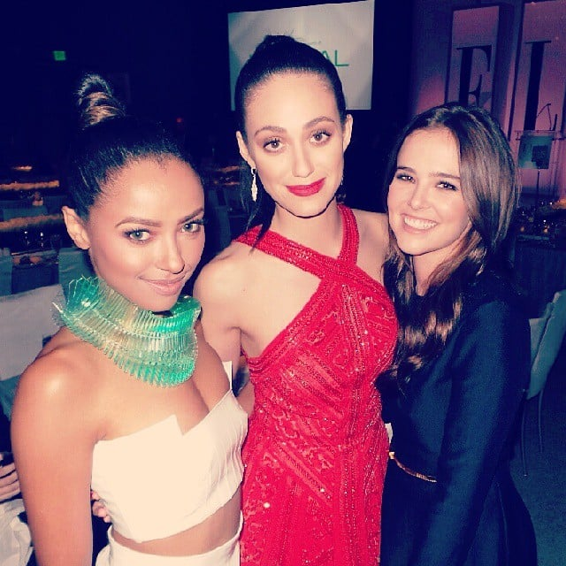 Emmy Rossum shared a photo with Kat Graham and Zoey Deutch at the Elle Women in Hollywood Awards. Source: Instagram user emmyrossum