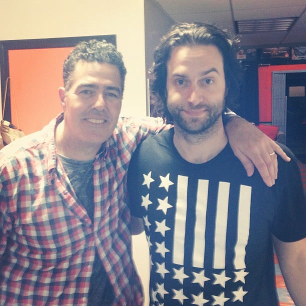 Adam Carolla made friends with Whitney's Chris D'Elia. Source: Instagram user chrisdelia
