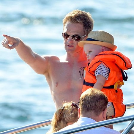Neil Patrick Harris in France With Twins and Elton John