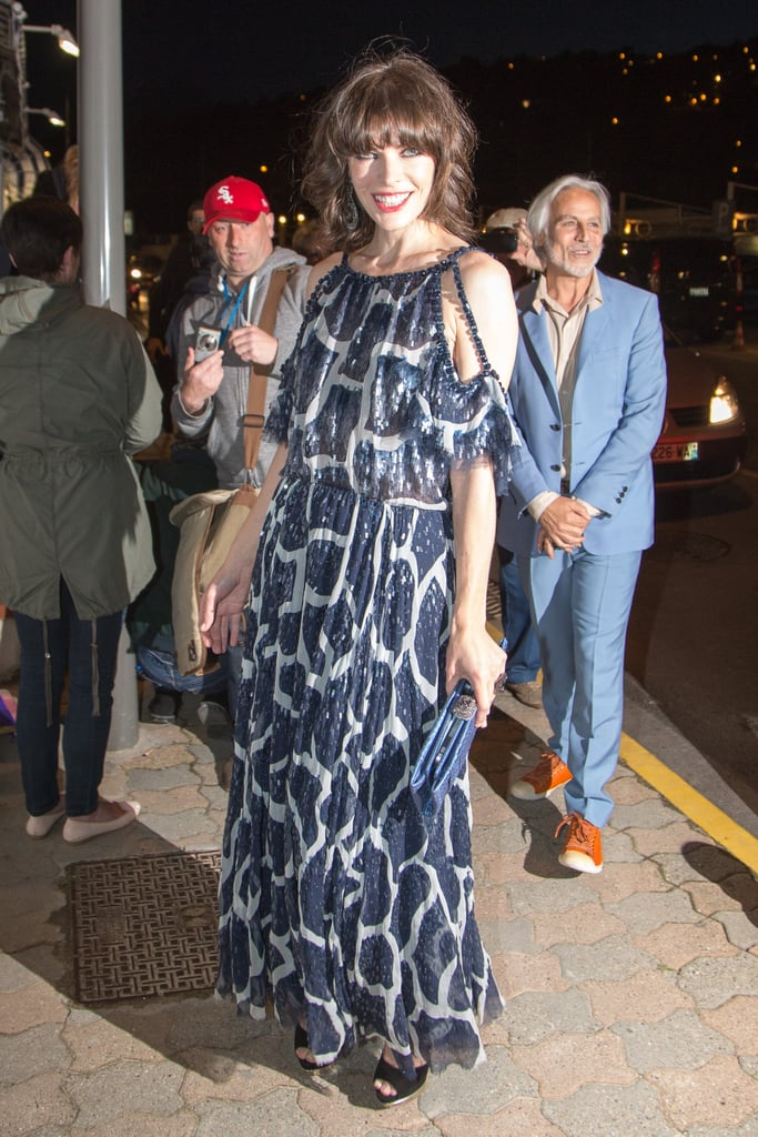 Milla Jovovich wore Spring 2012 Chanel Couture at the Vanity Fair and Chanel dinner in Cannes.