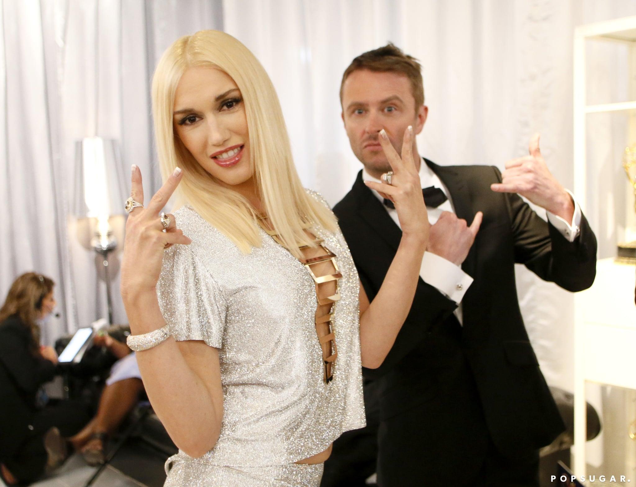Gwen Stefani let loose with Chris Hardwick backstage.