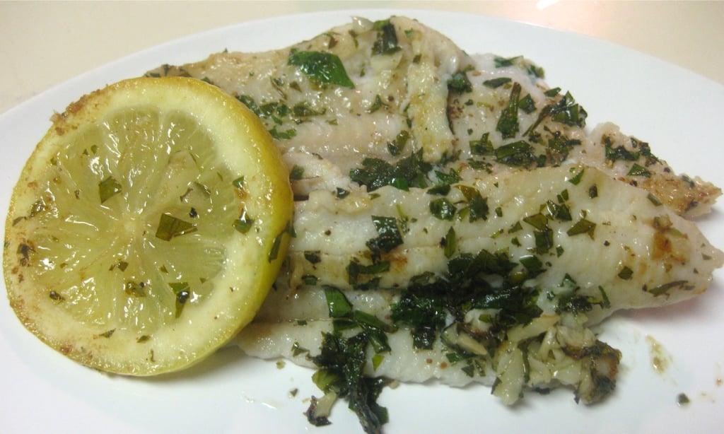 Sole With Herbed White Wine Lemon Sauce