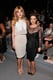 Bella Thorne and Alyssa Milano posed in pretty Tadashi Shoji ensembles at the Spring 2014 show. Bella showed a sliver of skin in her light separates and Alyssa went sheer in in a black peplum dress.