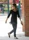Jessica Alba in Navy Printed Jogger Pants