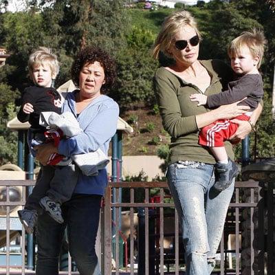 Sharon Stone Takes to the Park