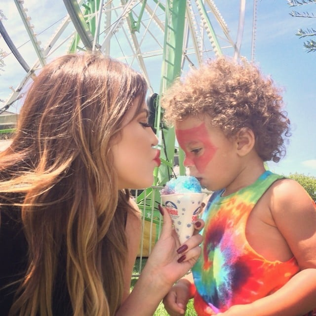 """""""Hitting up #Kidchella with my bestie Zeplin,"""" Khloé captioned this cute picture with a pal.  Source: Instagram user khloekardashian"""