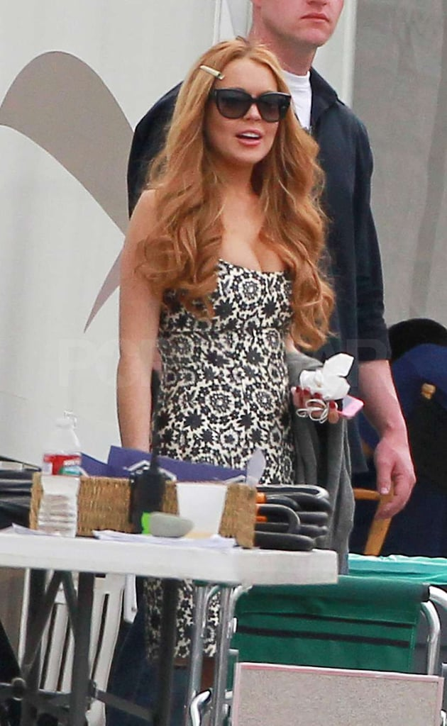 Lindsay Lohan shot an episode of Glee that features her.