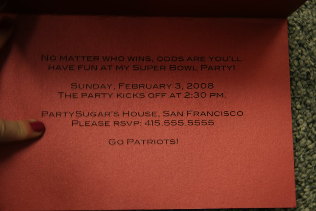 Come Party With Me: Super Bowl — Invite
