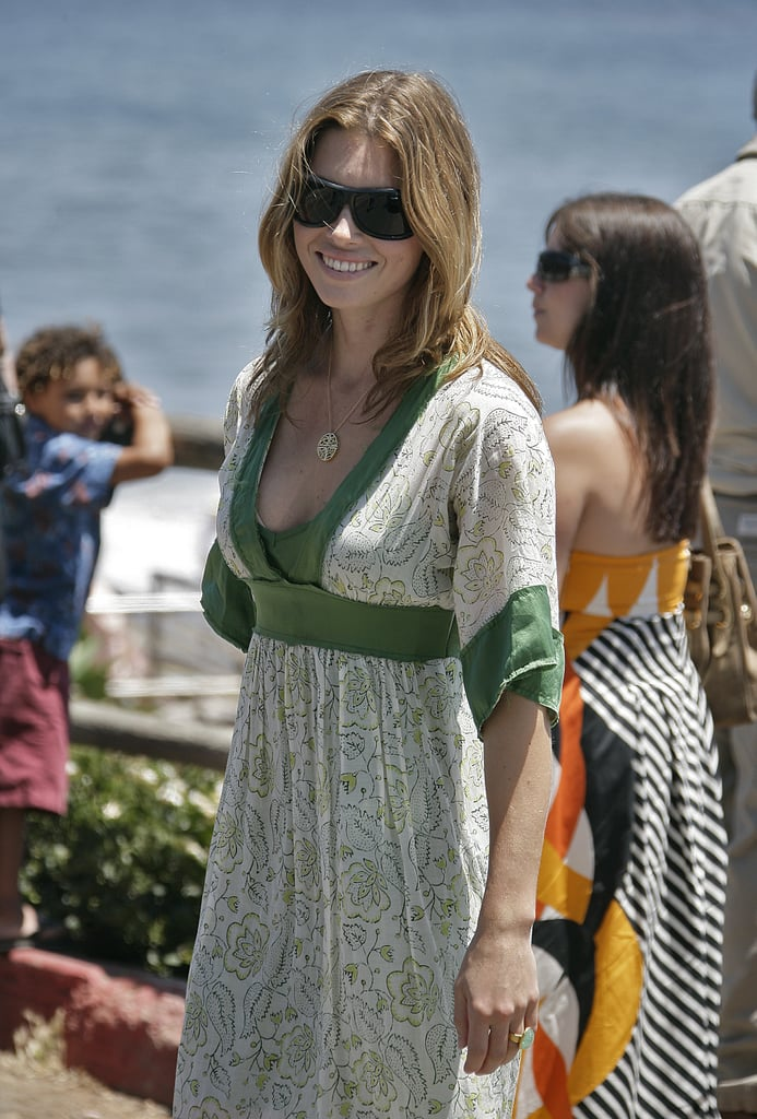 Jessica Biel looked sun-kissed in Santa Barbara while attending a friend's beach wedding in July 2007.