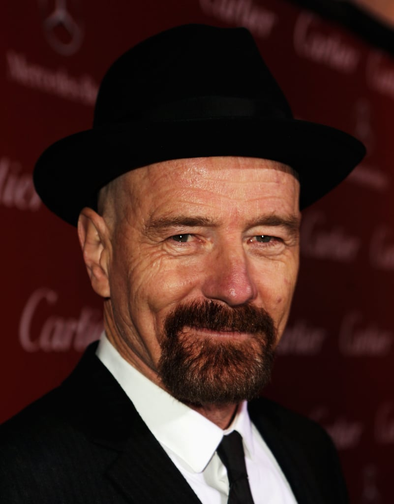 Bryan Cranston donned a hat.