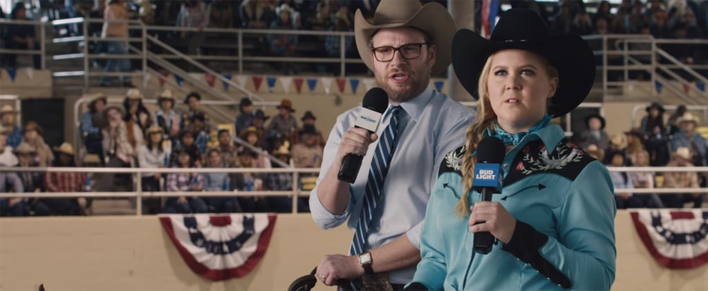 Watch Amy Schumer and Seth Rogen's Full Super Bowl Commercial in All Its Glory
