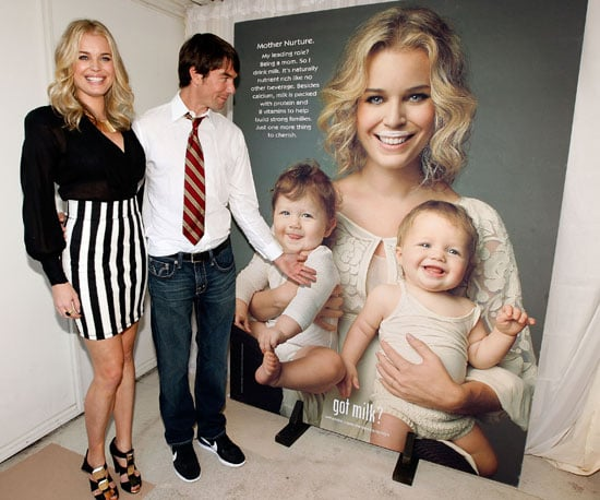 Slide Photo of Rebecca Romijn and Jerry O'Connell at Her Got Milk? Ad Unveiling