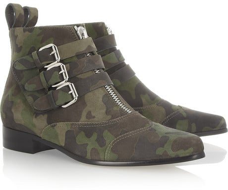 Tabitha Simmons Early camouflage-print suede ankle boots