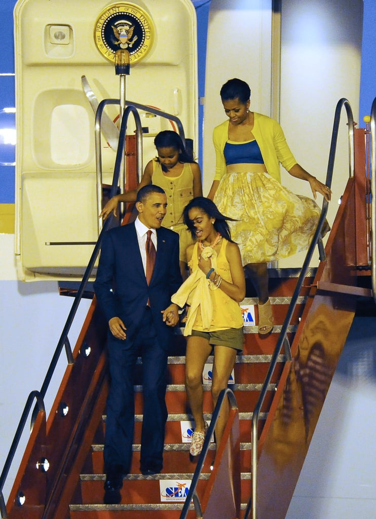 """During a 2012 interview, Obama responded to a reporter who said that """"soon the boys will come"""" for Malia: """"Oh, well that's why we have Secret Service. She's getting older. It makes me tear up just thinking about it."""""""