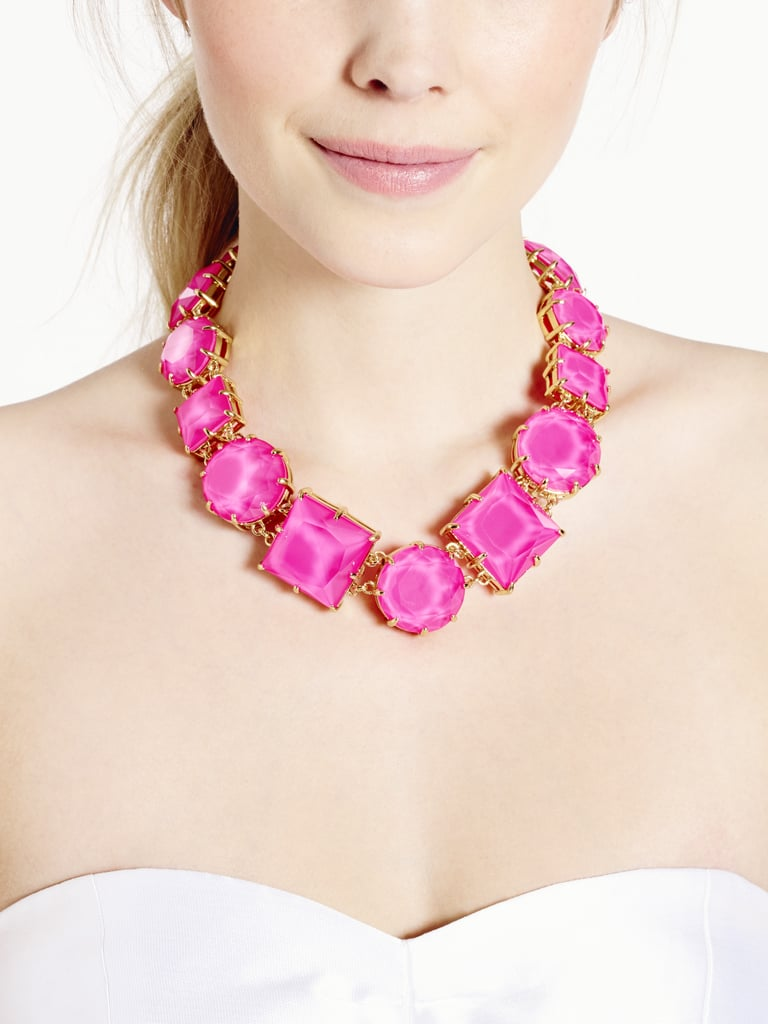 Kate Spade New York Large Pink Stone Crystal Kaleidoscope Necklace ($129, originally $295)