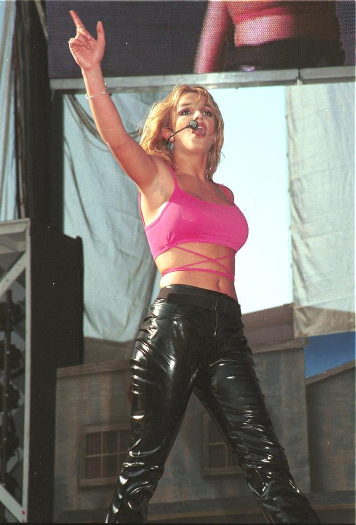 Britney Spears heated up the 1999 Wango Tango concert in LA.
