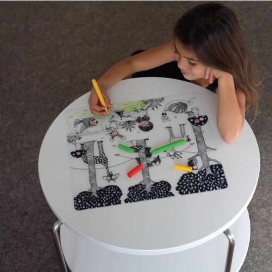 Modern-Twist Placemat and Markers Set