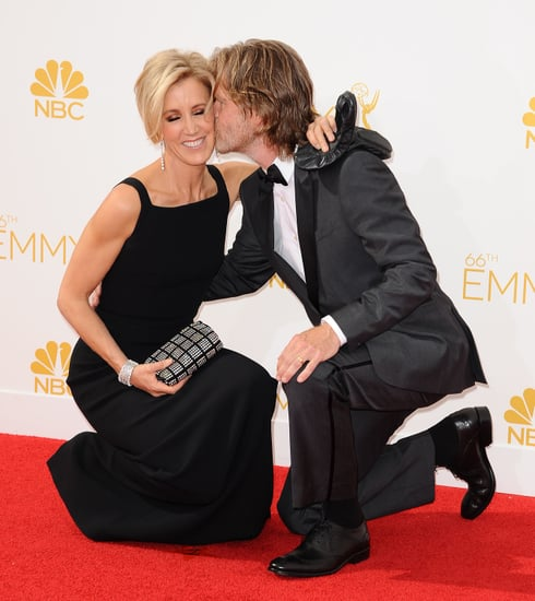 Felicity Huffman and William H. Macy at the 2014 Emmys