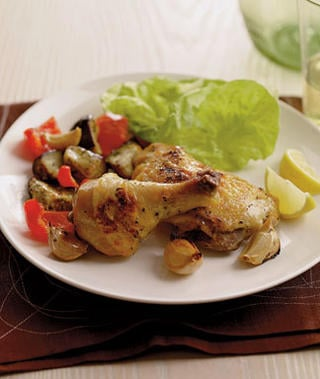 Fast & Easy Recipe for Roasted Greek Chicken & Vegetables