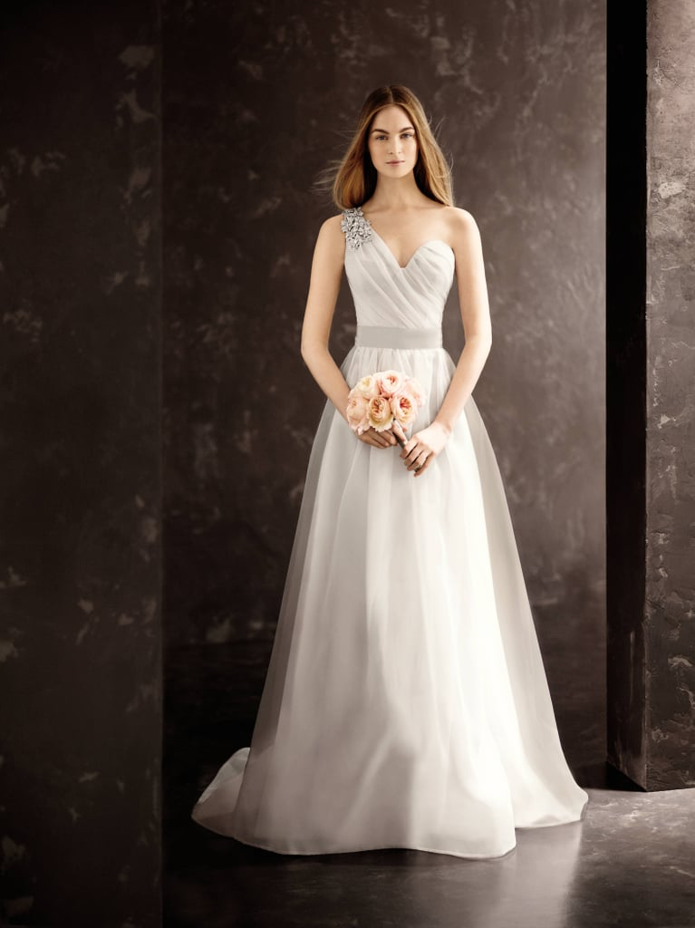 One Shoulder Draped Corset Garza Gown ($828) Photo courtesy of White by Vera Wang