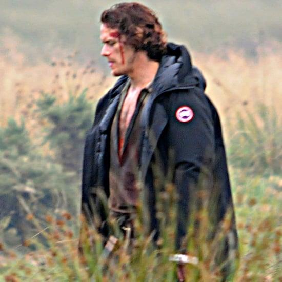 Sam Heughan Filming Outlander in Scotland