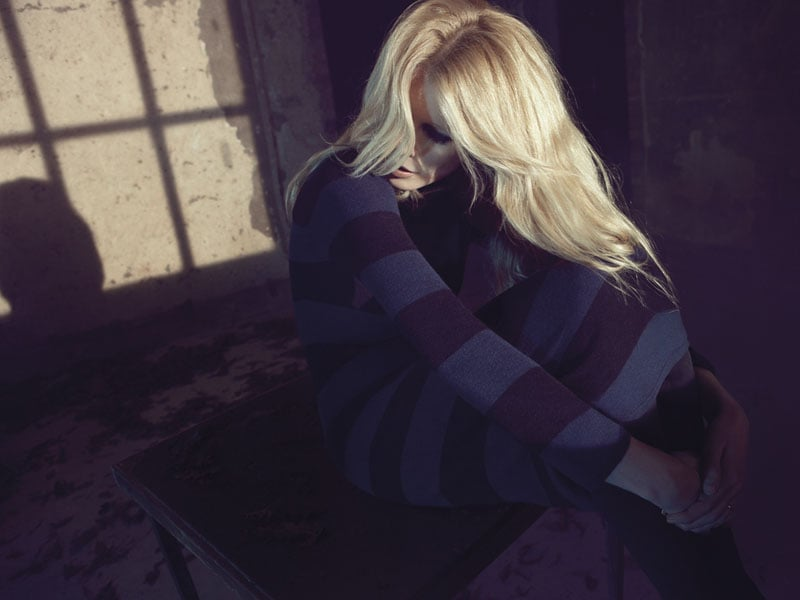 See Claudia Schiffer Model in Her New Cashmere Collection Lookbook