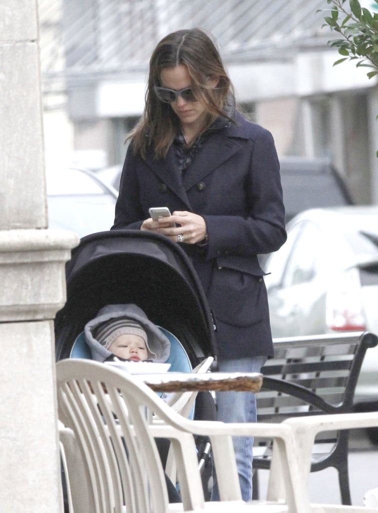 Jennifer Garner had Samuel in the stroller in New Orleans.