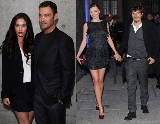 Pictures of Orlando Bloom, Miranda Kerr, Megan Fox, Brian Austin Green, Kylie Minogue and Naomi Campbell at Milan Fashion Week