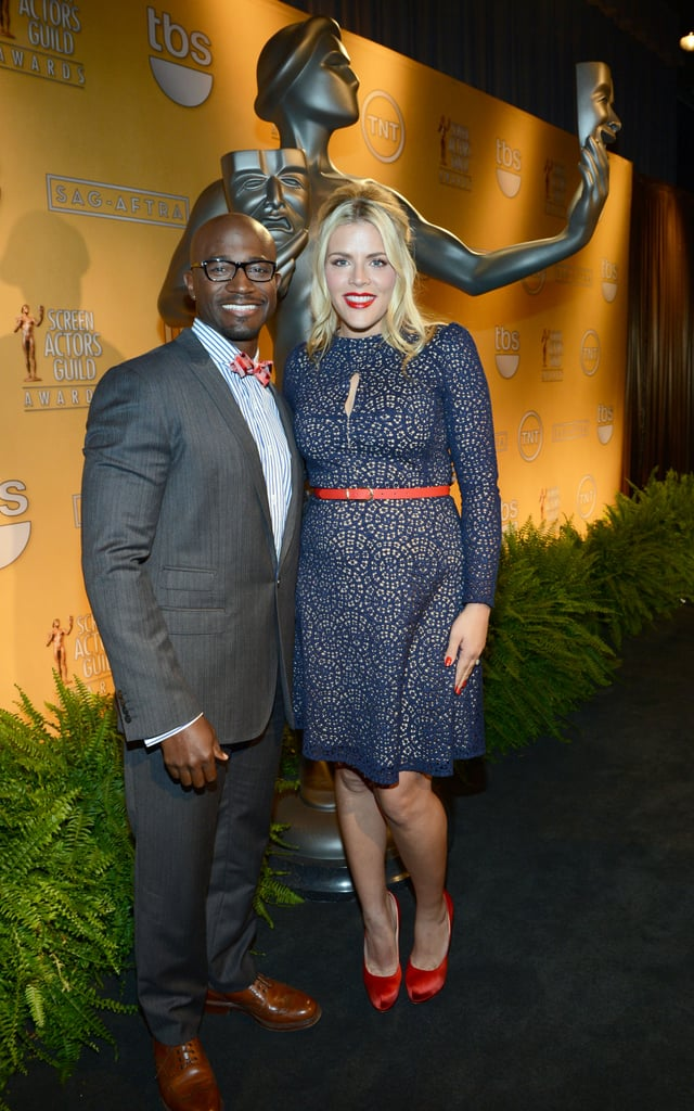 Busy Philips posed for photos with Taye Diggs in LA.