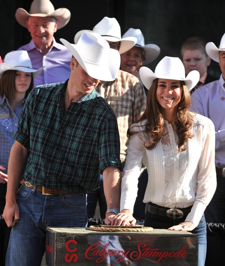 The two had some fun at the Calgary Stampede Parade on July 8, 2011.
