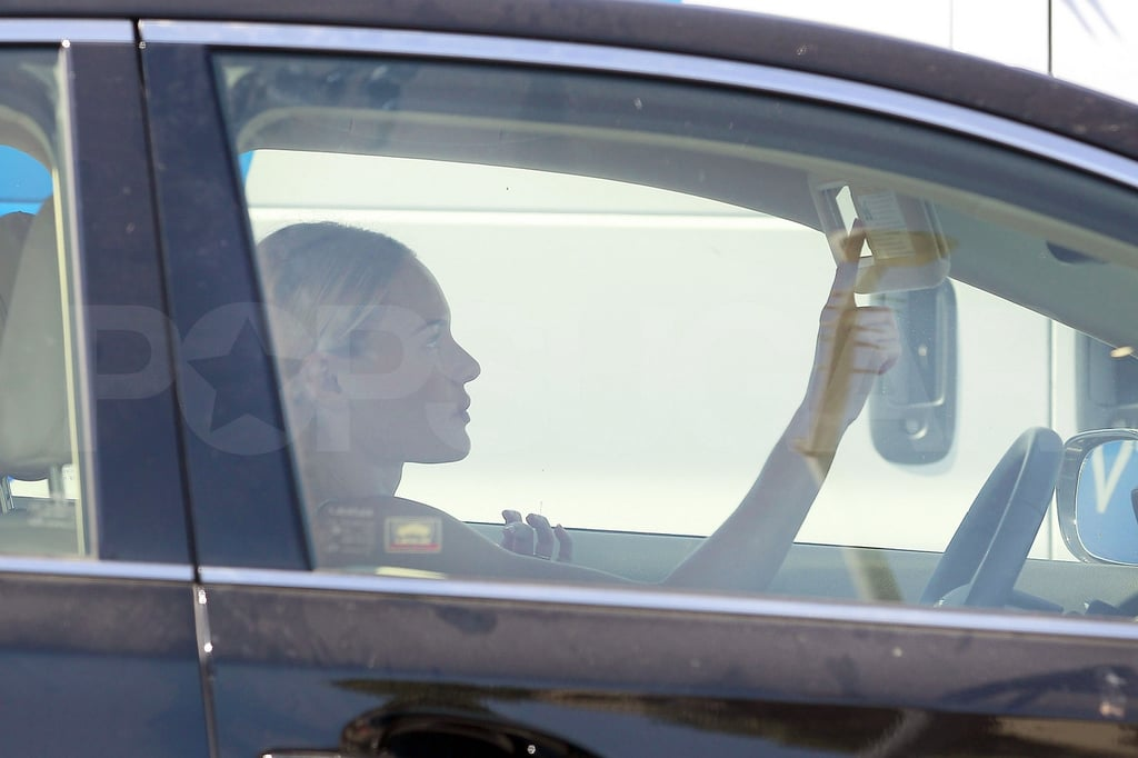 Kate Bosworth adjusted her mirrors.