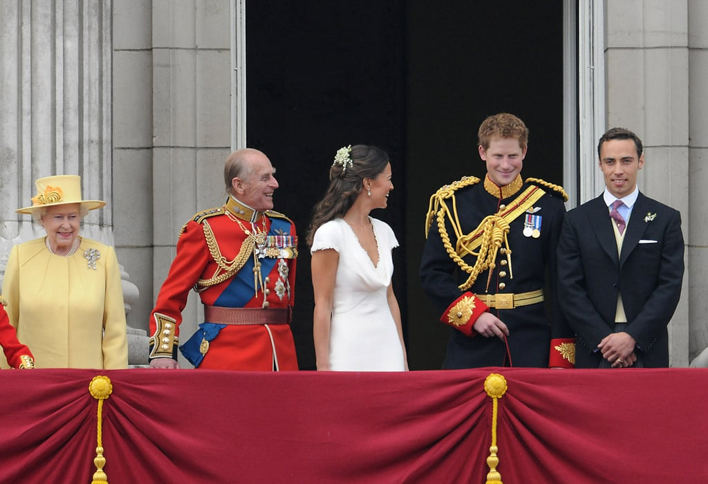 Prince Philip and Pippa Middleton shared a laugh with Prince Harry after the royal wedding.